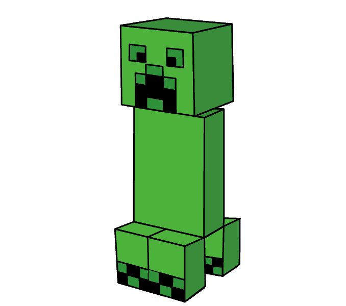 banner freeuse download How to Draw a Minecraft Creeper