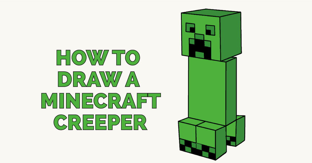 picture freeuse How to draw a. Creeper drawing.