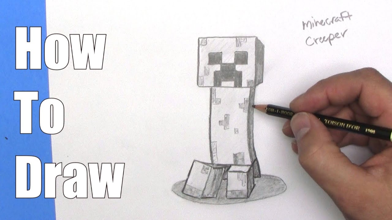 vector freeuse Creeper drawing. How to draw a.