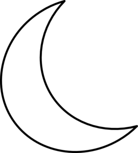 banner royalty free stock Crescent shape . Black and white moon clipart