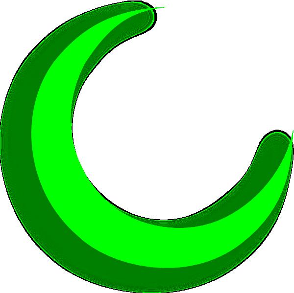 svg free Crescent clipart. Green clip art at