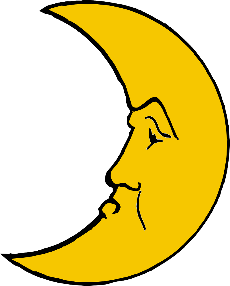 graphic royalty free Onlinelabels clip art heraldic. Crescent clipart happy