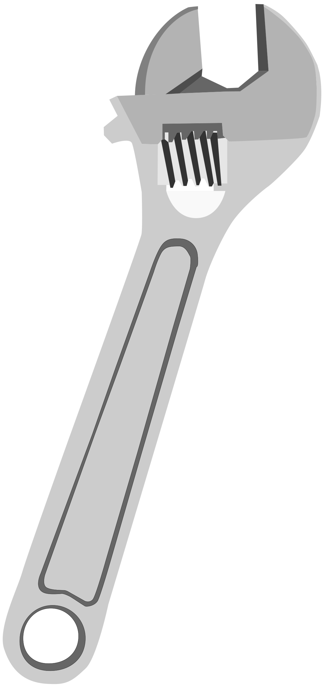 vector black and white download Crescent wrench clipart. Adjustable big image png
