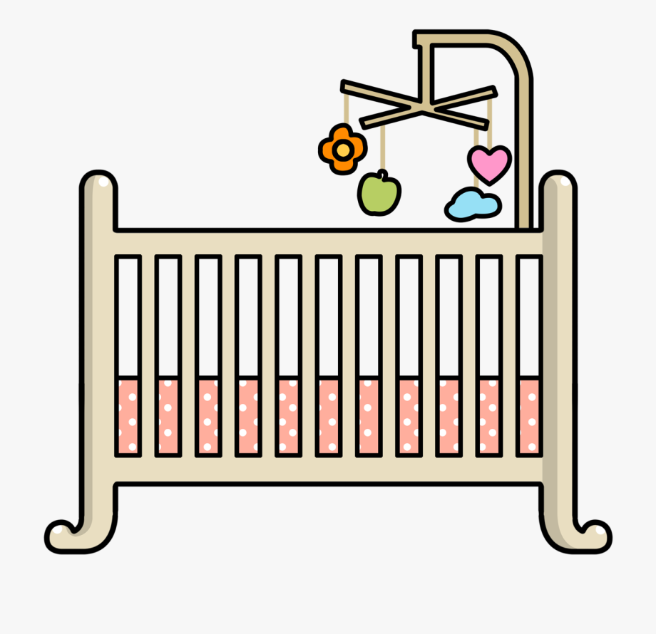 vector freeuse library Crib clipart. Baby png free cliparts