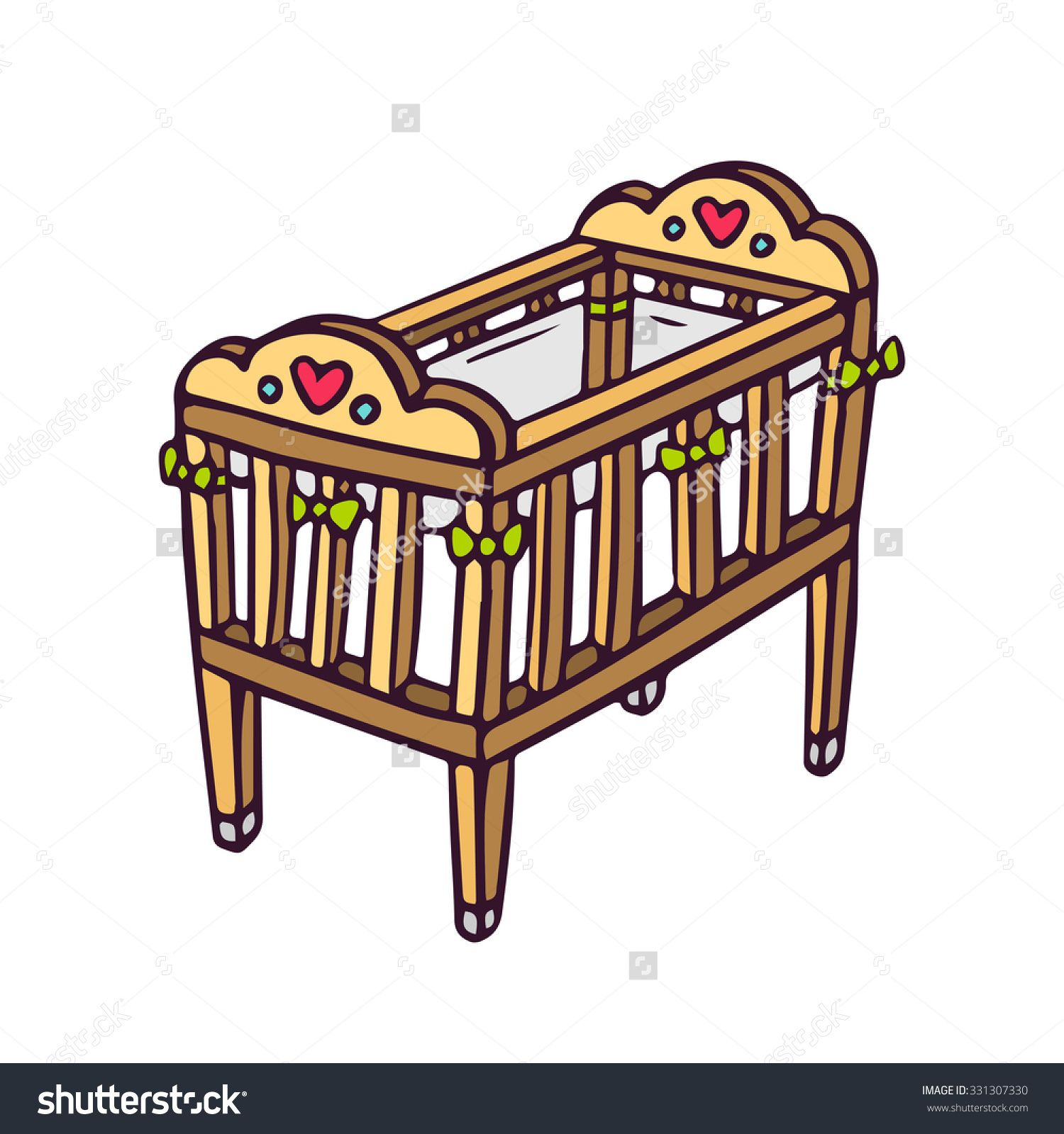 png free library Cot clip arts galleries. Crib clipart