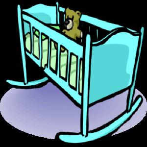 clip library library Baby clip art panda. Crib clipart