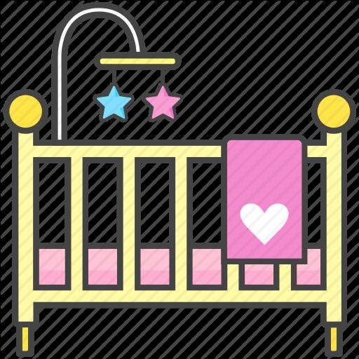 vector royalty free library By jisun park bassinet. Crib clipart baby stuff