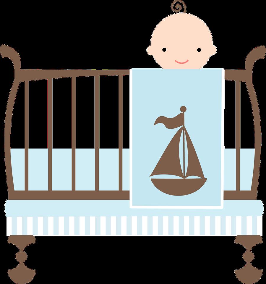 image freeuse library Crib clipart baby stuff. Beb menino e menina