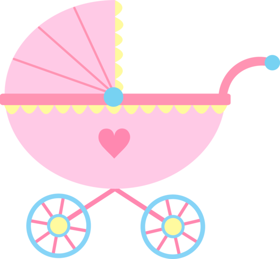 banner royalty free stock Girl cute pink carriage. Crib clipart baby stuff