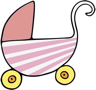 picture black and white download Free animations pink buggy. Crib clipart baby stuff