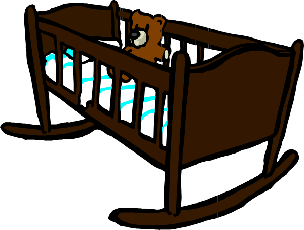 vector library library Brown Crib Clip Art at Clker