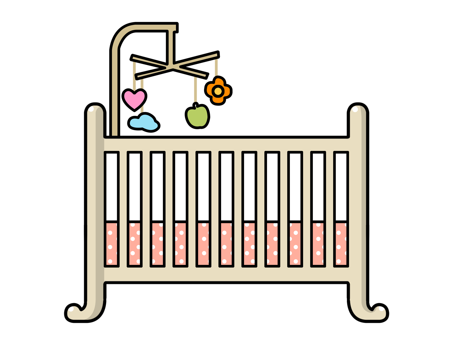 clipart library library Crib clipart. Baby free on dumielauxepices
