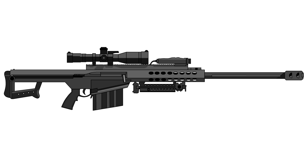 clip art transparent Barrett sniper rifle google. Vector carbine 50 cal