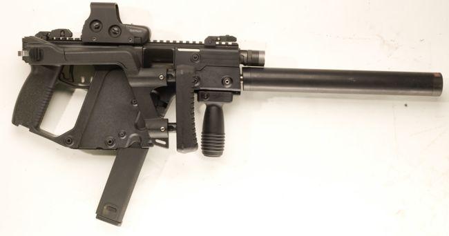 clipart freeuse stock Kriss crb so modern. Vector carbine submachine gun