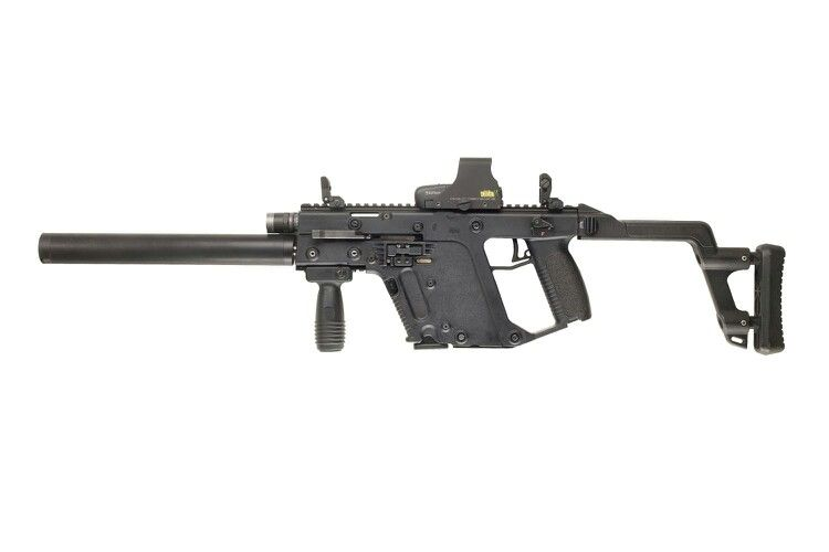 vector black and white stock Pin on guns ammo. Vector carbine holographic sight