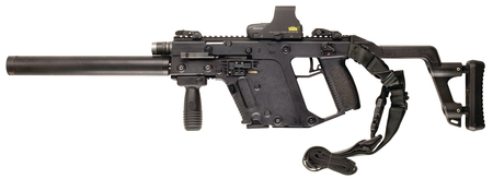 picture royalty free Kriss super v tactical. Vector carbine holographic sight