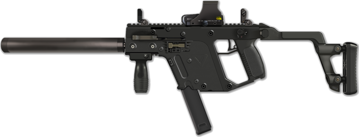 graphic freeuse library Vector carbine badass. Kriss non restricted rasen