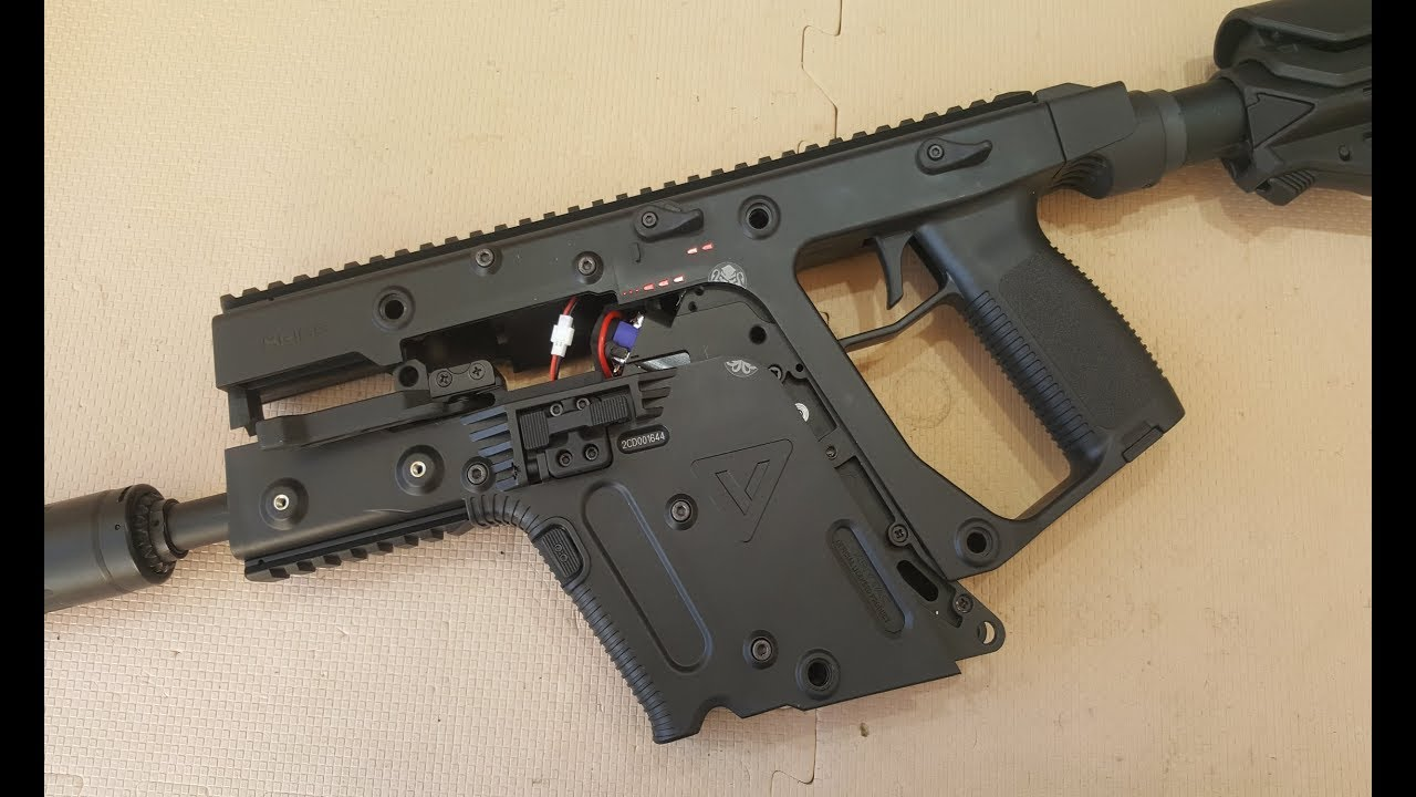 transparent stock Vector carbine upgraded. Kriss krytac aeg maxx