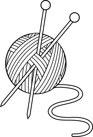 black and white download Knitting clipart. Crochet clip art black