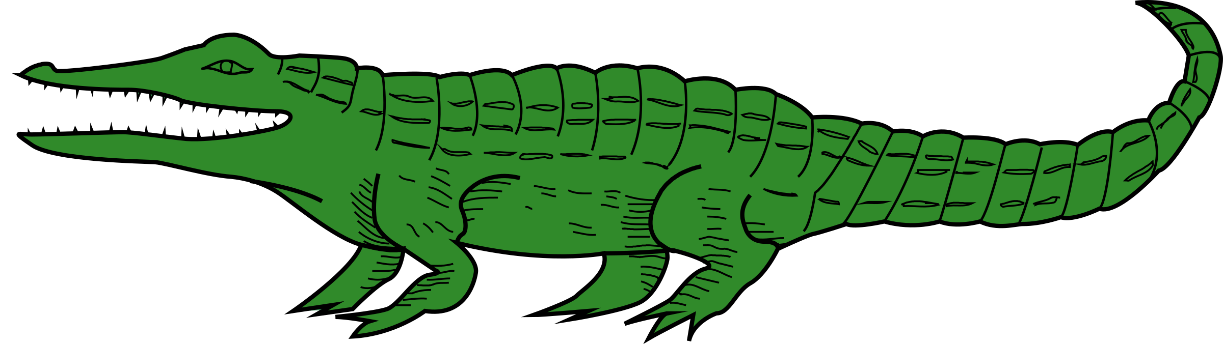 image black and white library Crocodile clipart. Big image png.