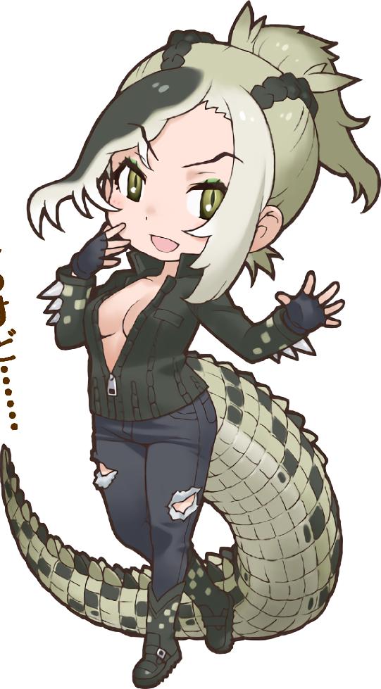 clip black and white Vector wiki crocodile. Saltwater japari library the