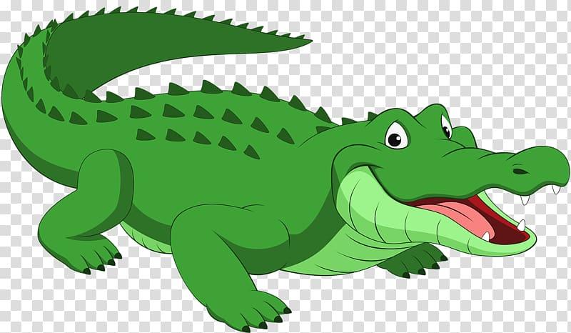 clip library Green illustration alligator reptile. Crocodile clipart transparent background