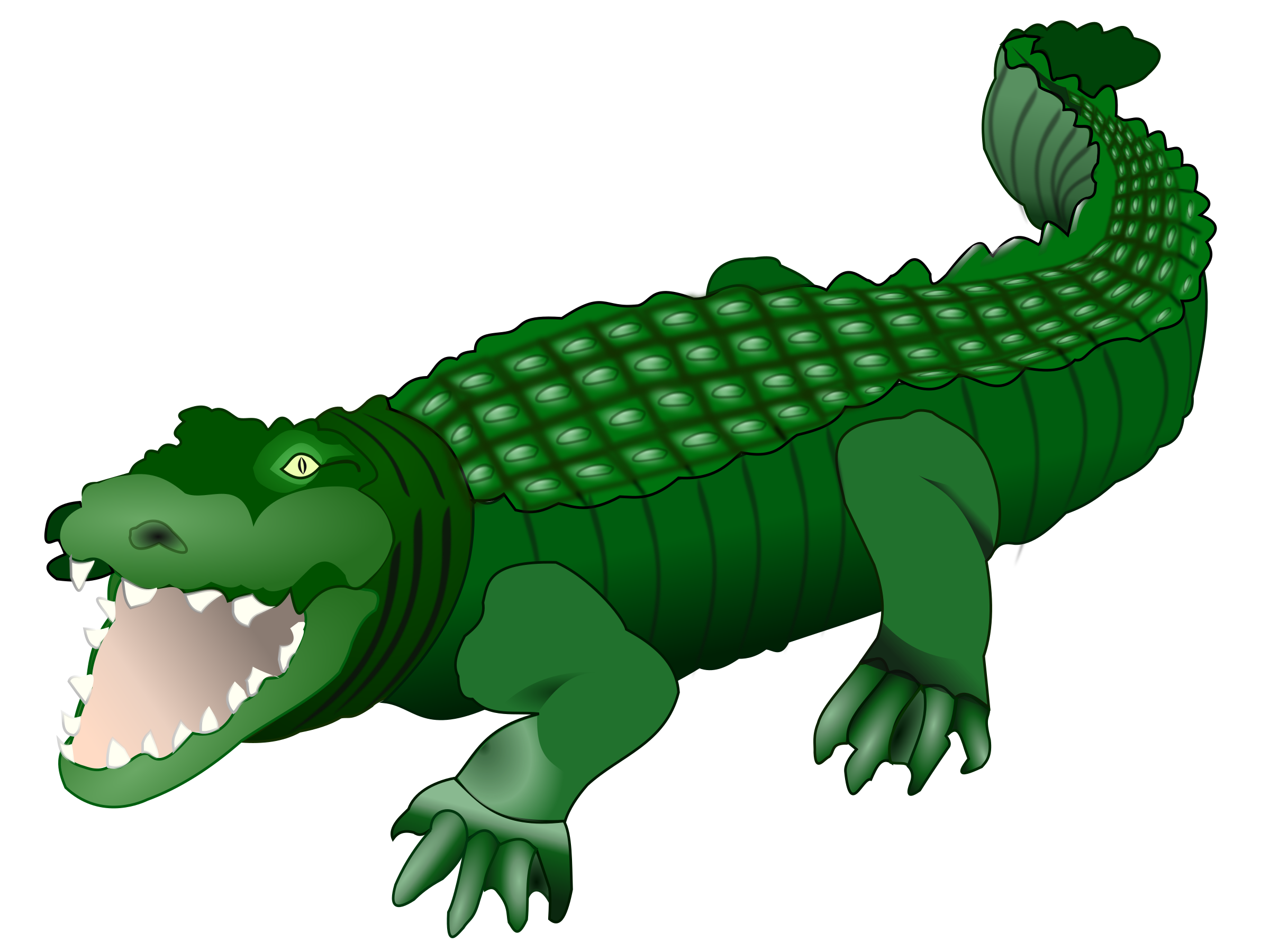 royalty free download Crocodile clipart. Green free on dumielauxepices.
