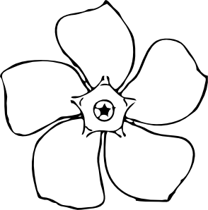 clip download Periwinkle Flower Top View Clip Art at Clker