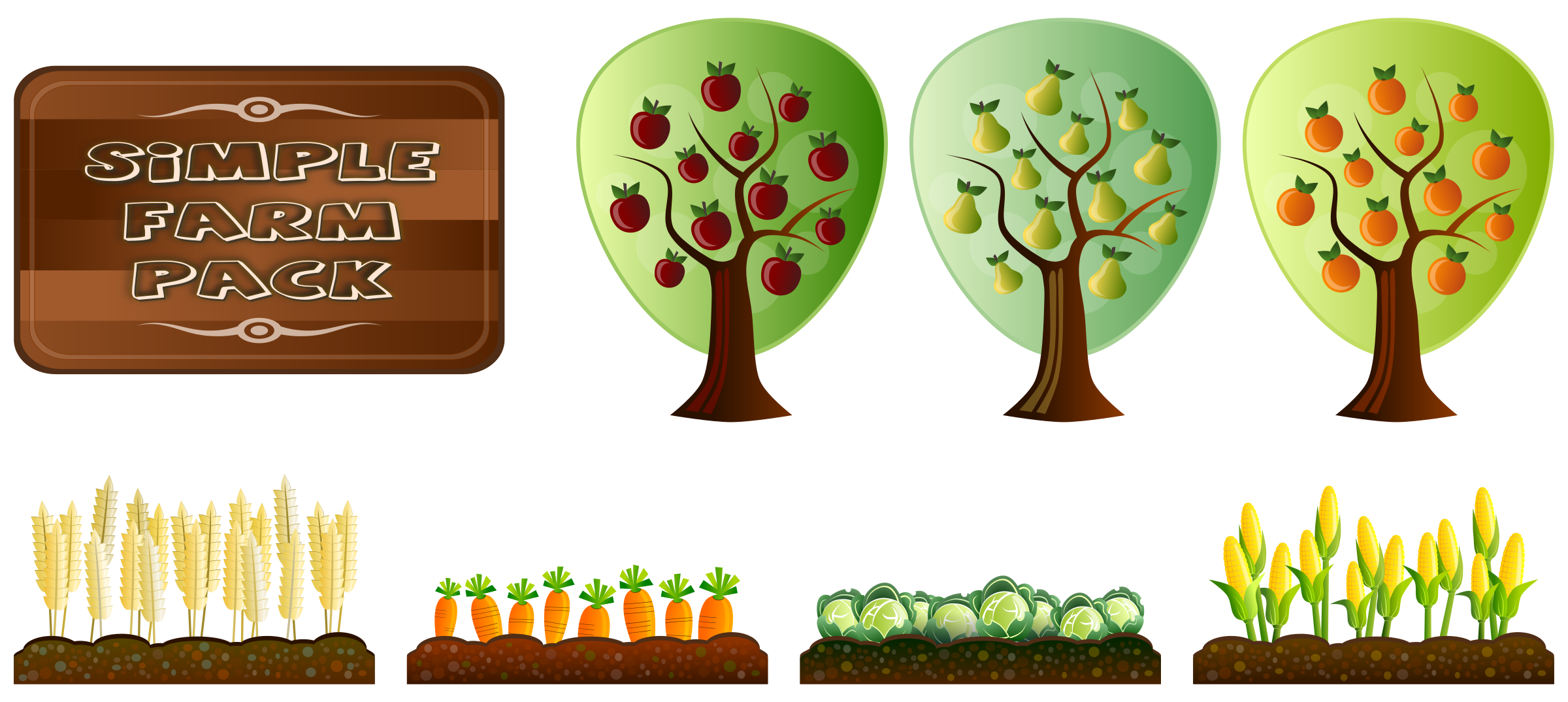 picture download Crops clipart. Simple farm big image