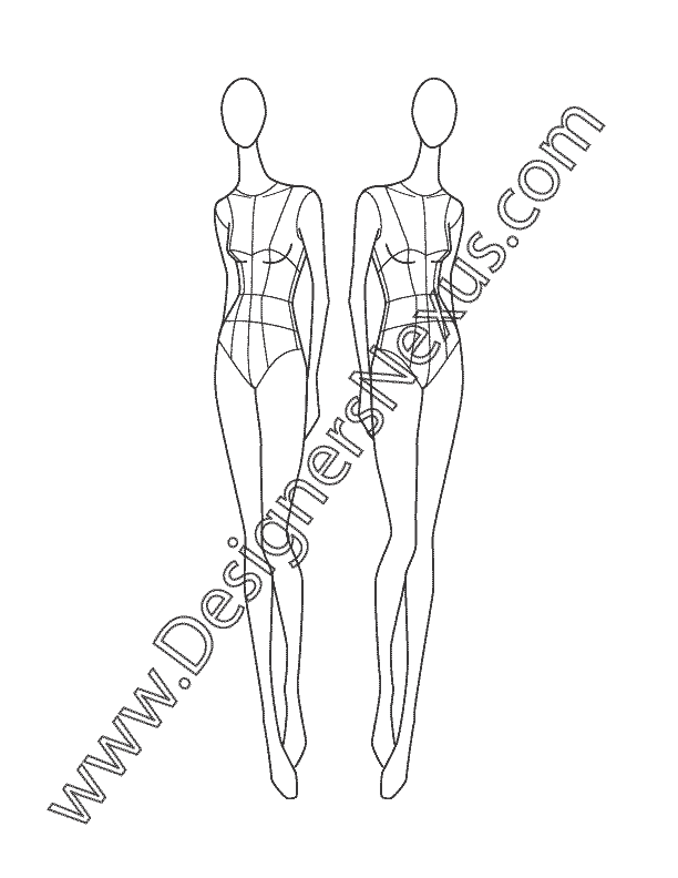 banner black and white library This free fashion croqui. Drawing neck poses