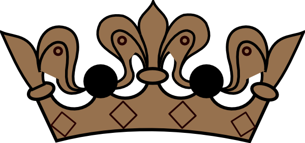 banner Yoyo clipart vector. Brown crown clip art
