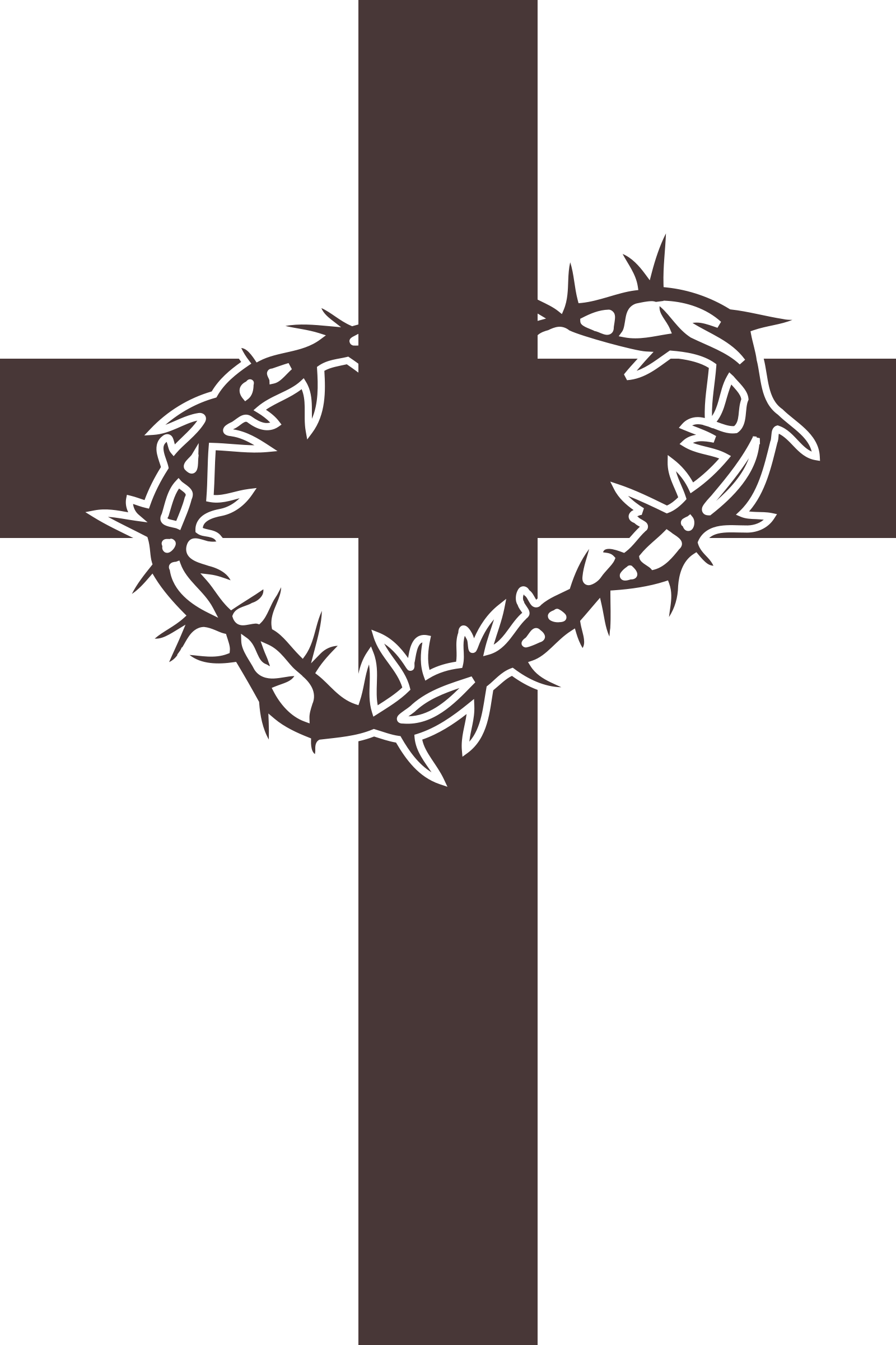 graphic freeuse download Cross clipart. And thorns icon big.