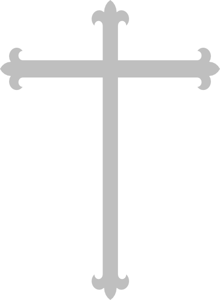 clipart transparent library Cross clipart black. Gothc silver pencil and
