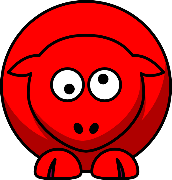 free library Sheep Red Looking Crossed