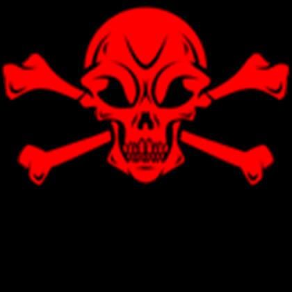 clip freeuse library Crossbones clipart. Red skull roblox redskullcrossbonesclipart