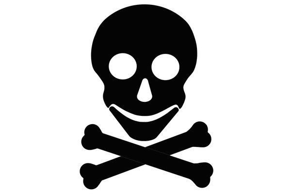 image black and white stock Crossbones clipart.  skull and clipartlook