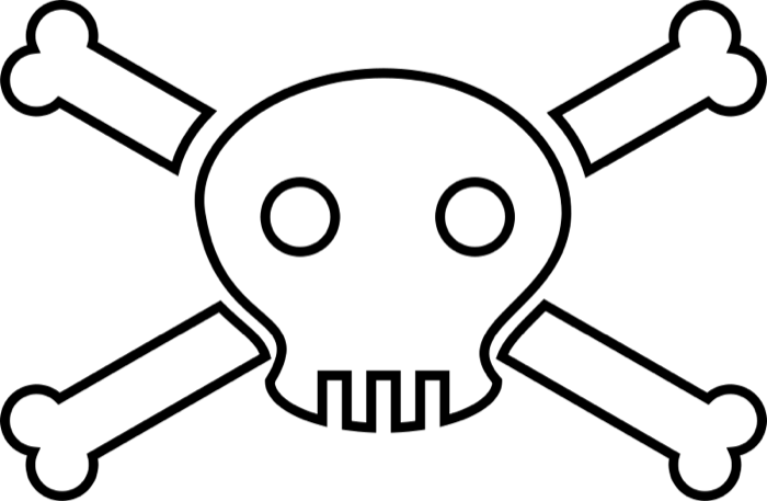 royalty free library Crossbones clipart. Skull and crossbone