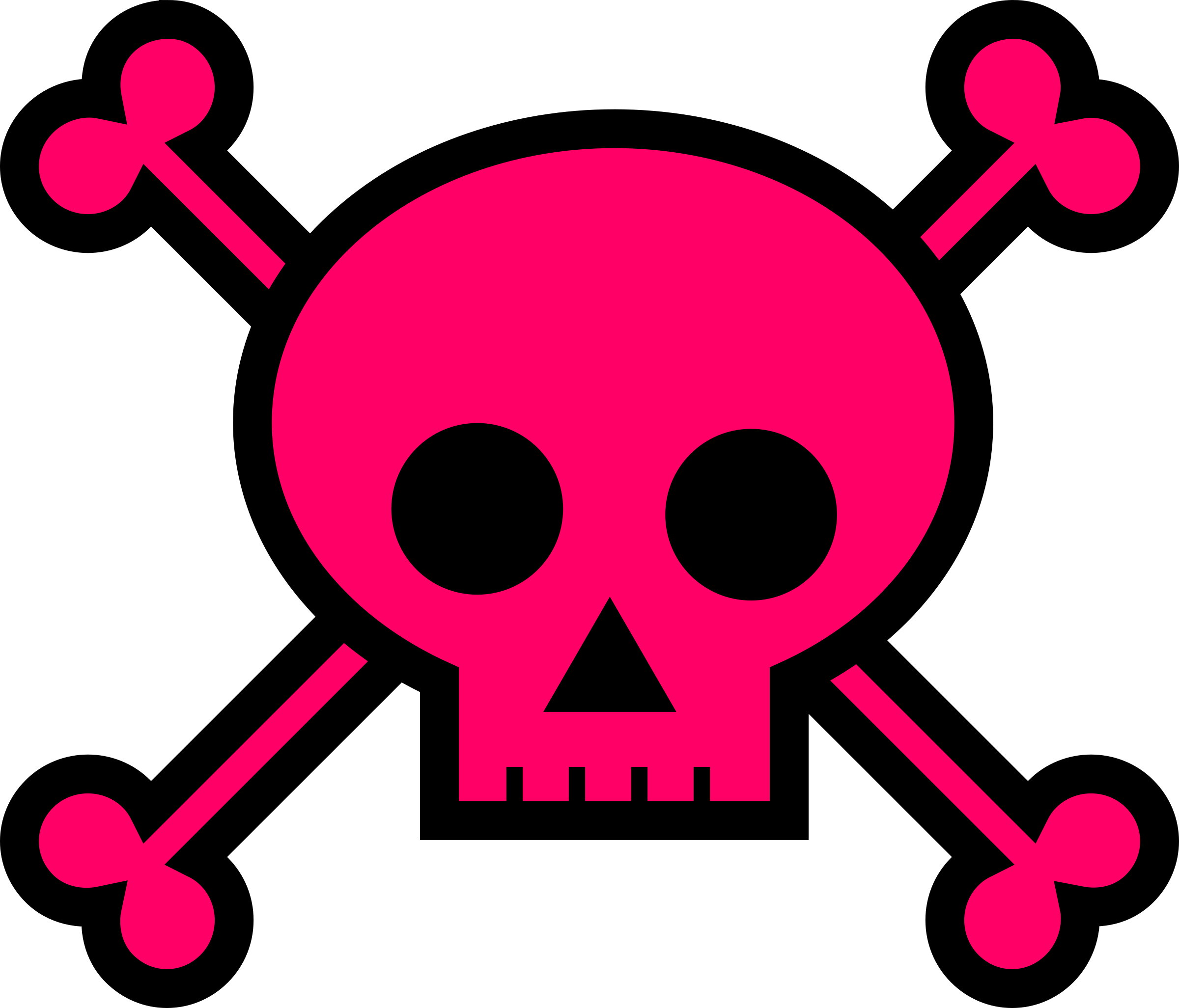transparent stock Skull and large pink. Crossbones clipart