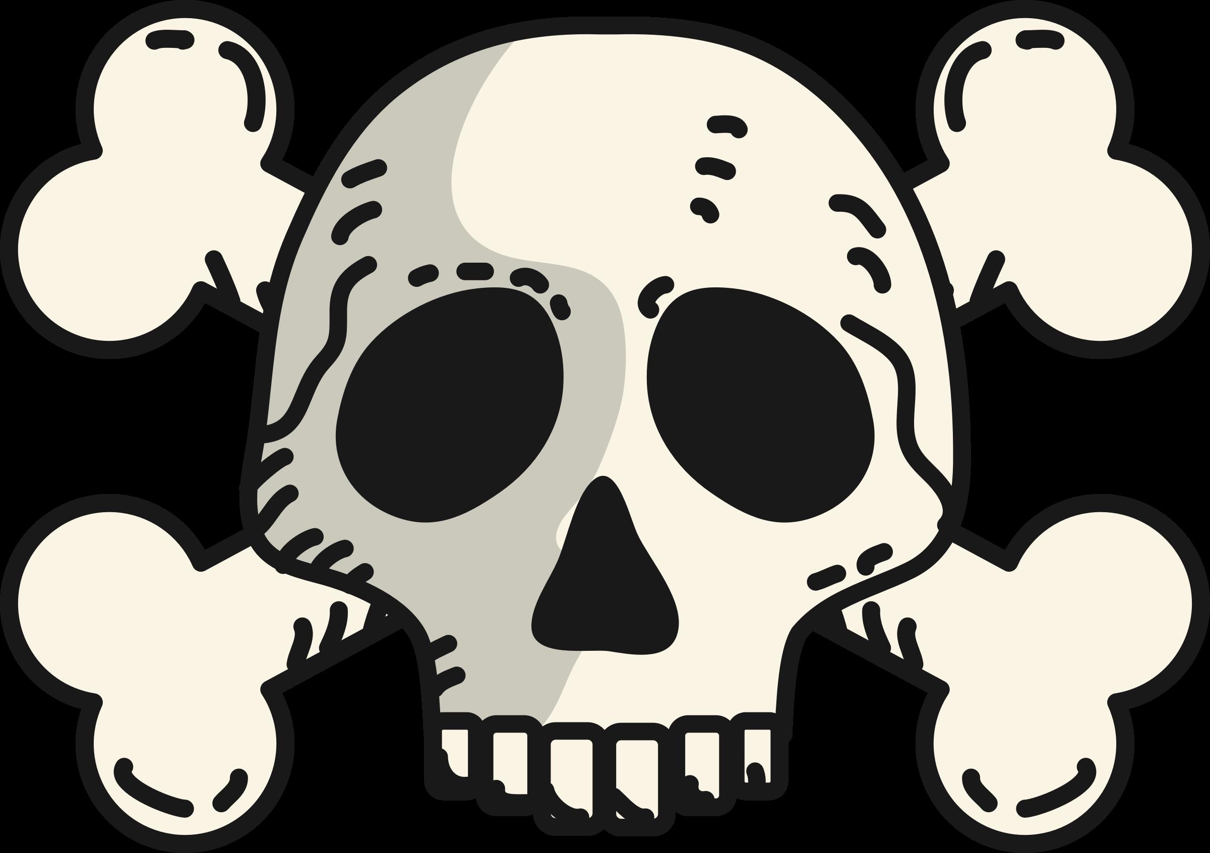 svg download Skull and crossbones clipart. Bones vector cartoon