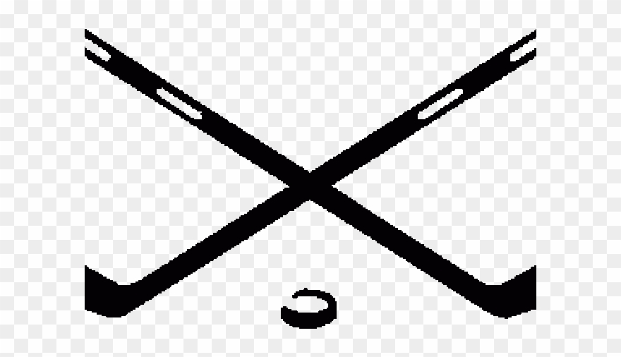 vector free library Png . Crossed ice hockey sticks clipart