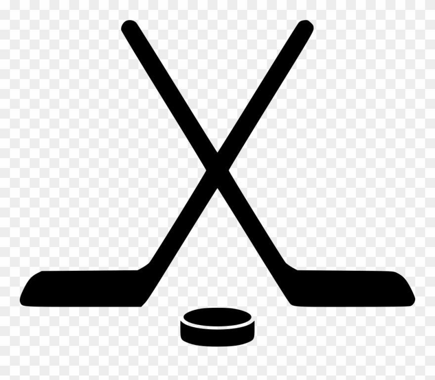 clip art transparent library Stick svg png icon. Crossed ice hockey sticks clipart