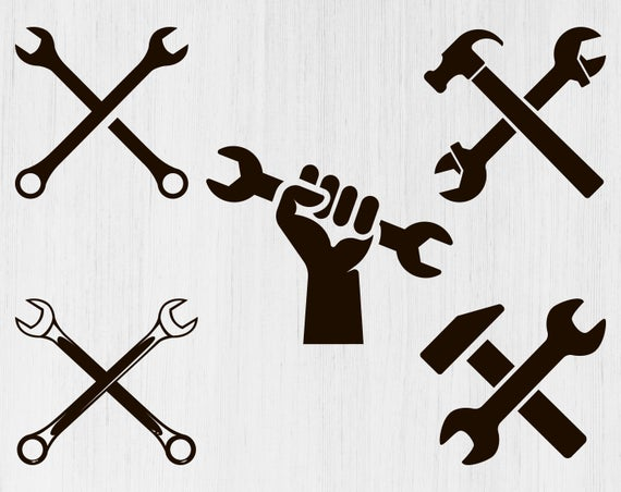 clip art free Svg tools tool png. Crossed wrench clipart.