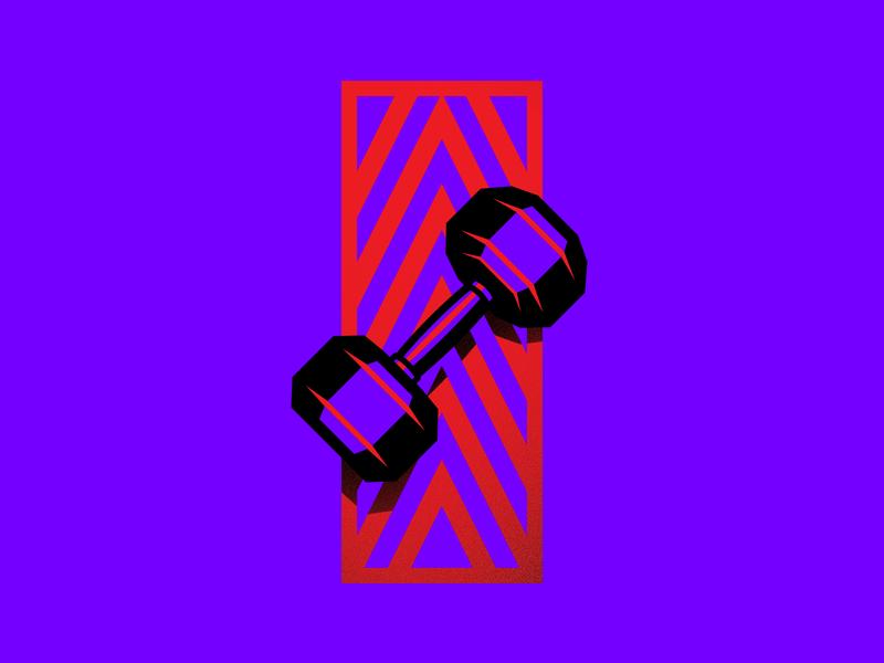clipart freeuse library Crossfit vector dumbbell. Illustration by laszlo polgar