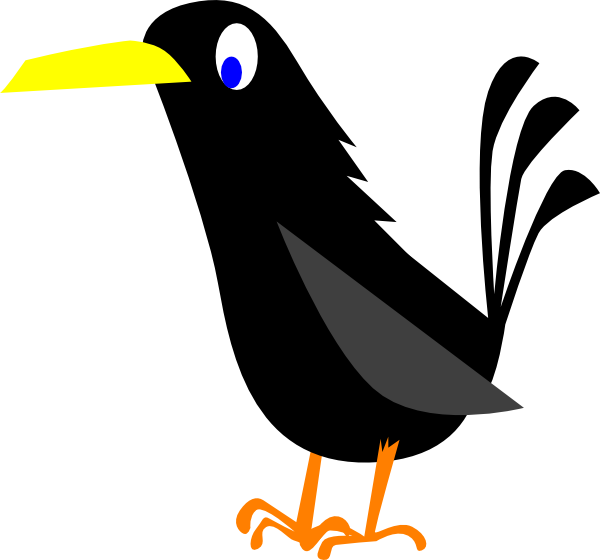 clip transparent download Cartoon . Crow clipart
