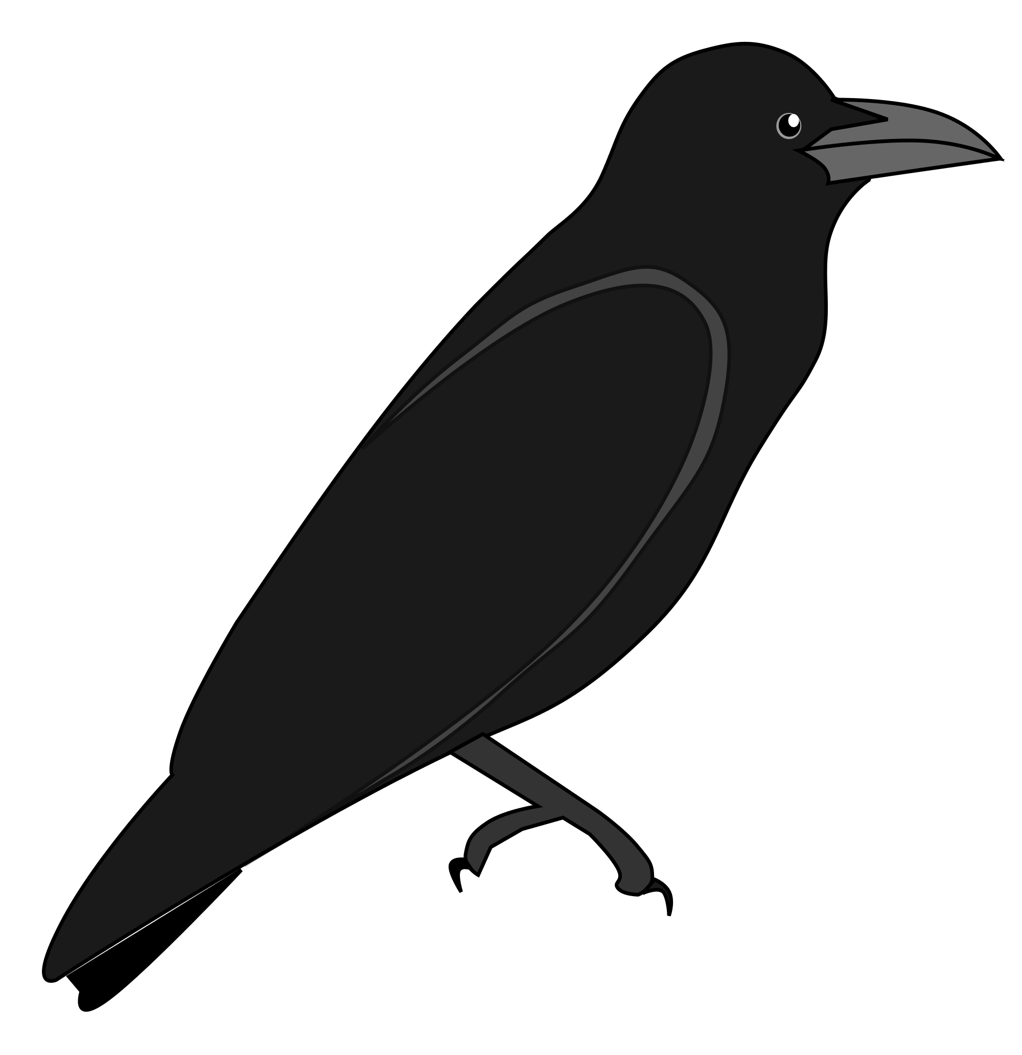 vector transparent Clipart small free on. Blackbird drawing dead crow