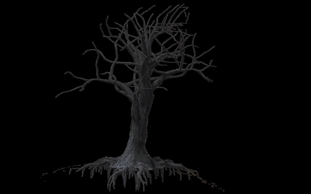clip free stock creepy tree drawing