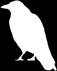 picture transparent Crow Outline clip art
