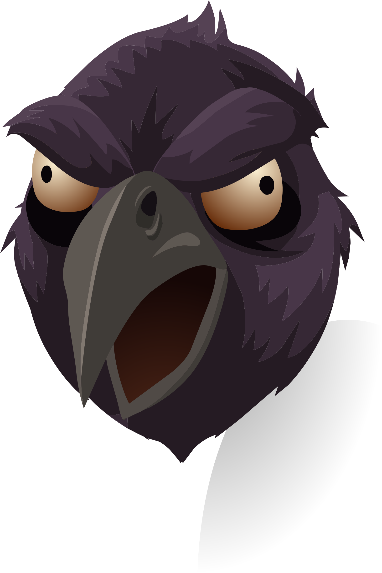 picture Crow clipart head. Misc rook big image