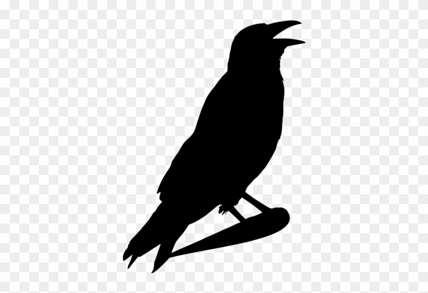 jpg black and white download Crow clipart head. Halloween black and white