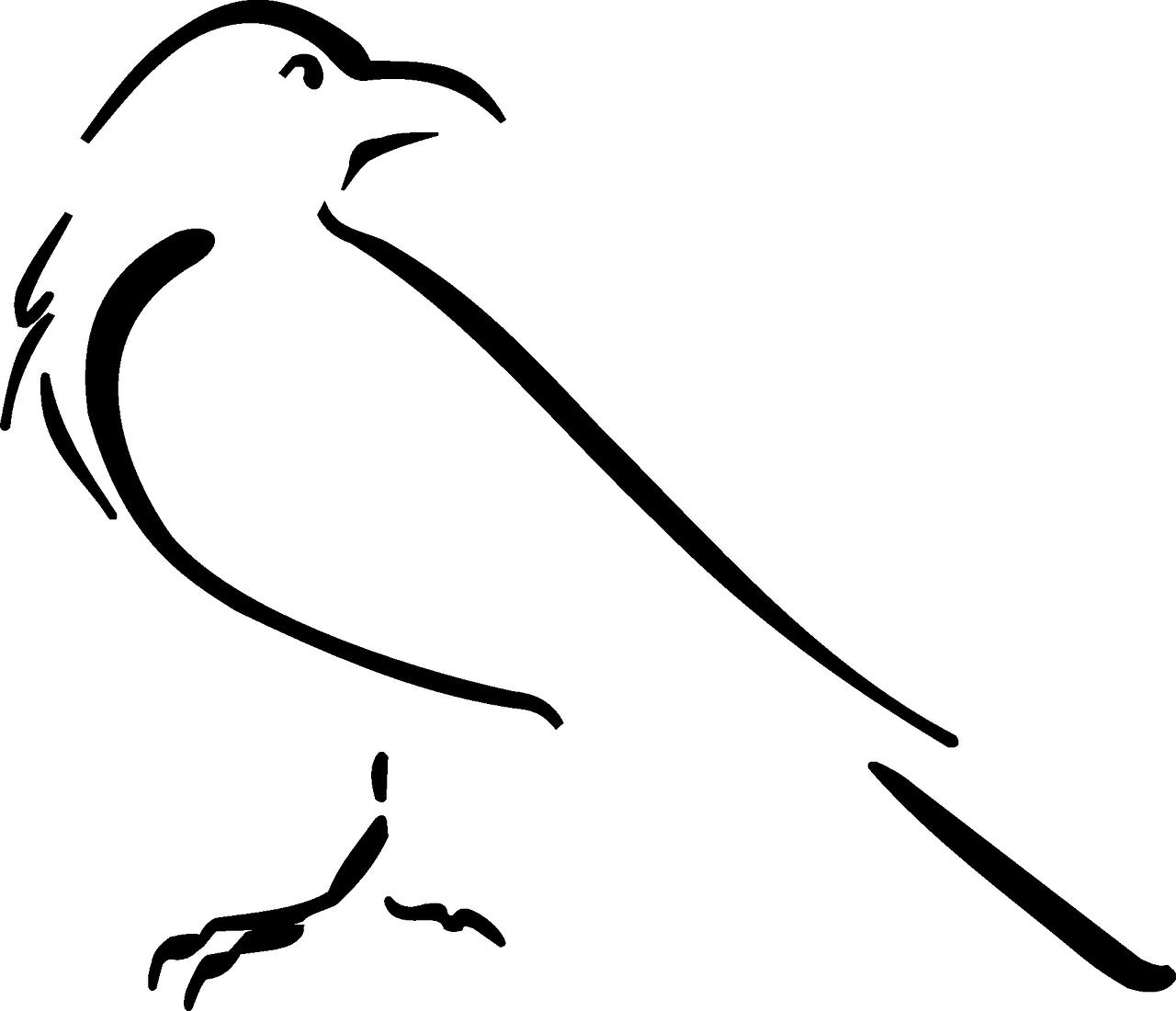 svg black and white stock Free image on pixabay. Blackbird drawing forearm